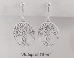 Silver Clip On Earrings, Celtic Tree of Life | Dazzlers Earrings
