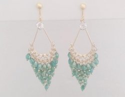 Clip On Earrings, Chandelier, Dazzling CZ Crystals | Dazzlers