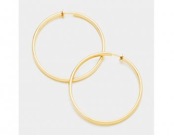 Very Large Gold Hoop Statement Clip On Earrings | Dazzlers