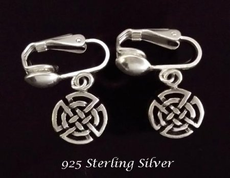 Sterling Silver Clip On Earrings by Dazzlers, Petite Size