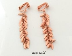 Rose Gold Modern Fashion Clip On Casual Earrings