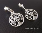 Clip On Earrings, Tree of Life, Celtic | Dazzlers Earrings