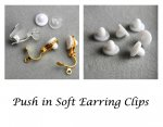 Push in Soft Pads for Clip On Earrings