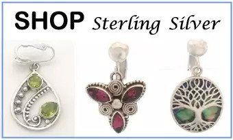 sterling silver clip on earrings
